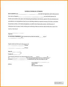 general power of attorney template 6 sle general power of attorney form plan