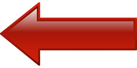 imagenes de flechas rojas kostenlose vektorgrafik pfeil links hinweis form
