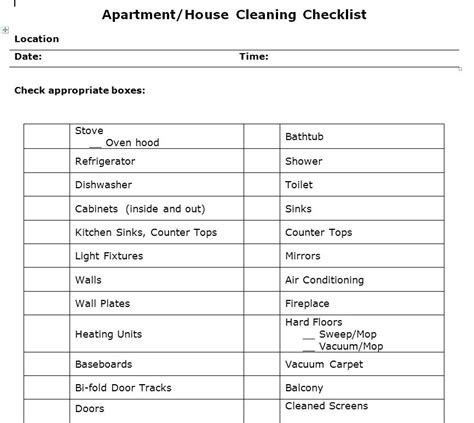 living room checklist unusual housekeeping checklist template gallery exle