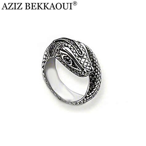 aliexpress buy silver snake ring black cobra