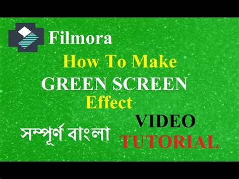 tutorial filmora green screen green screen effect how to edit video video edit