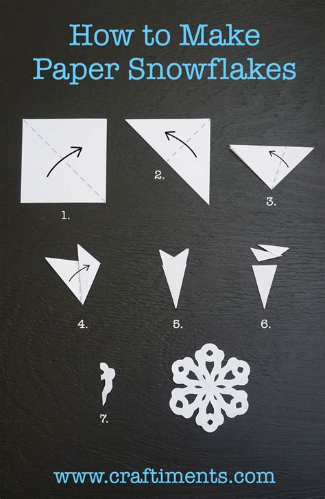 How To Make A Snowflake Out Of Paper Easy - best 25 paper snowflakes ideas on 3d paper