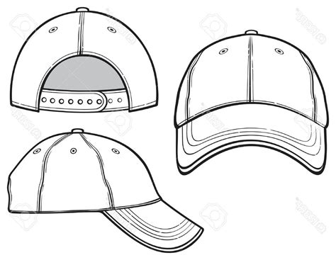 hd baseball cap vector template image 187 free vector art