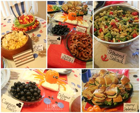 food ideas for a jake and the never land birthday food