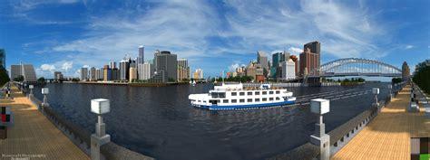 modern city lapiz point modern city riverfront panorama by