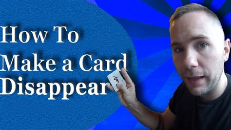 How To Make A Card Disappear