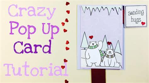 carding tutorial german crazy pop up card tutorial deutsch youtube