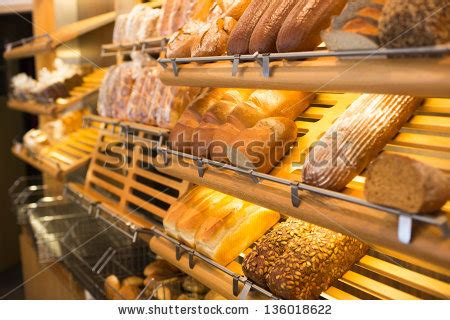 lada da tavolo antica bread and different types of bakery products stock photo