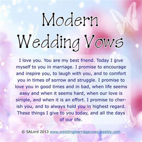 modern marriage wedding vows sle vow exles