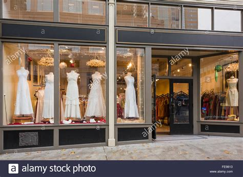 Wedding Stores by Exterior Of Bridal Boutique With Wedding Dresses Displayed