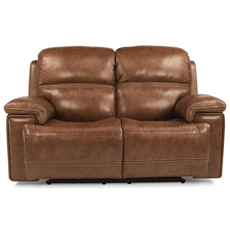 power reclining sofa with usb flexsteel latitudes fenwick power reclining loveseat with