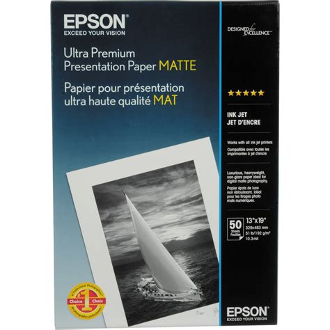 Epson Ultra Premium Presentation Paper Matte S041339 B H Photo