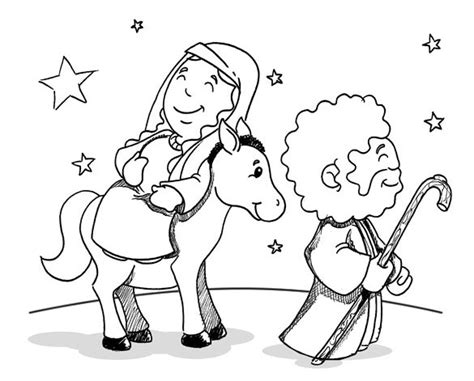 coloring pages mary and joseph bethlehem mary and joseph travel to bethlehem travel to bethlehem