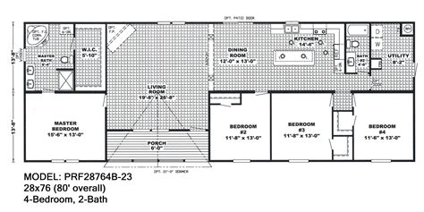 4 bedroom single wide floor plans beautiful 4 bedroom double wide mobile home floor plans