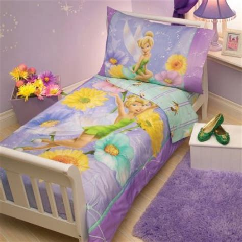 Disney Toddler Bed Sets Disney Tinkerbelle 4 Pc Toddler Bedding Set Walmart