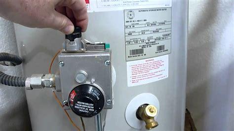 Relight Pilot Light Water Heater Shutdown Relight And Maintenance Youtube