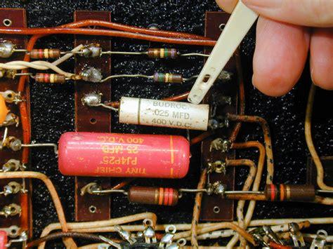 replacing vintage capacitors replacing capacitors in radios and tvs