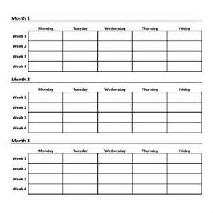 weekly work planner template weekly workout template calendar template 2016