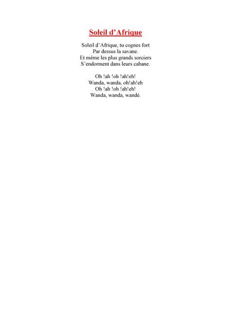 Imprimer La Chanson Soleil D Afrique T 234 Te 224 Modeler