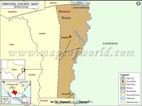 newton texas map newton county map texas