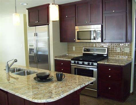 kitchen remodel ideas for small kitchens galley small cherry finished galley kitchen with marble top