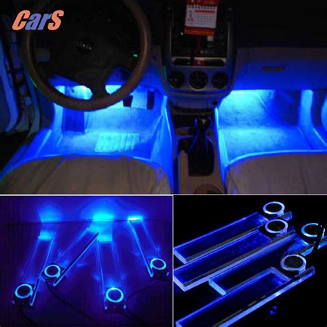 12v 4 Leds Car Interior Decoration Floor Pathway Lights 12v Led Lights Cing