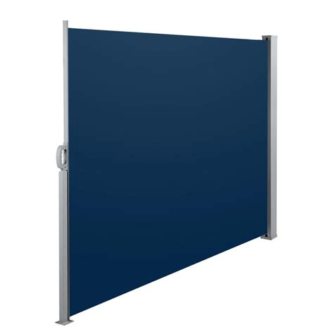 blue awning retractable side awning blue