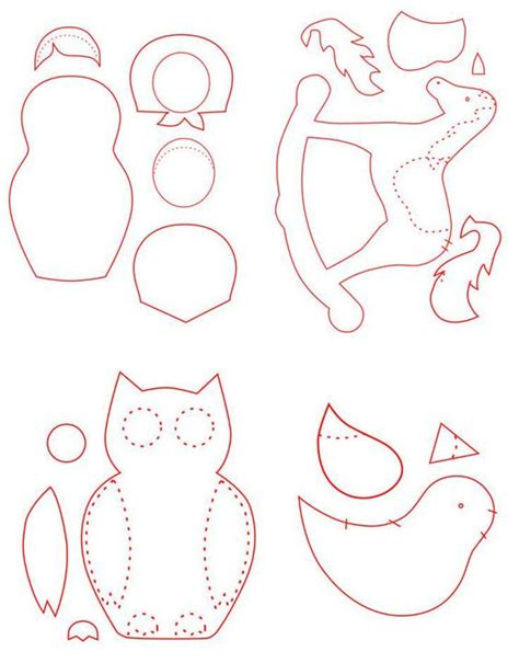 felt ornament templates free patterns for felt ornaments vintage craft