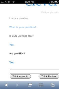 cleverbot apk ben drowned you shouldn t done that creepypasta you re dead dr