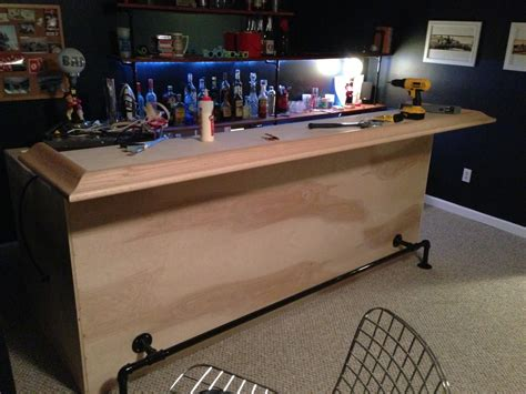 Bar Top Arm Rest Back To The Trees Basement Bar