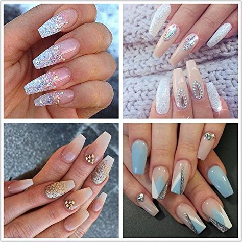 Nails With Box Clear ecbasket 500pcs coffin nails clear nail tips cover