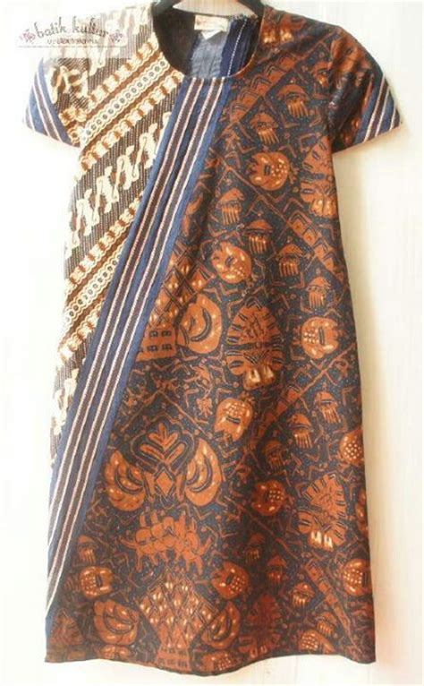 diagonal puzzled dress sogan klambi batik