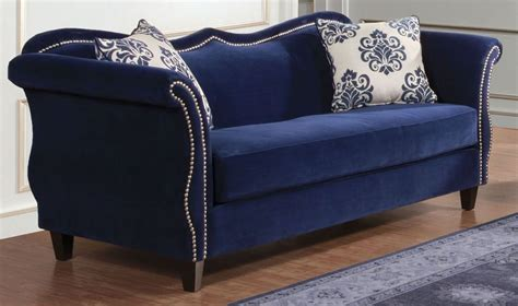 royal blue couch zaffiro royal blue sofa from furniture of america sm2231