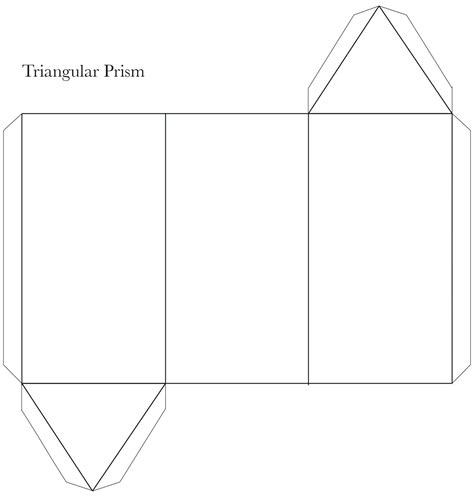 Triangular Pyramid Template printable triangular pyramid template printable