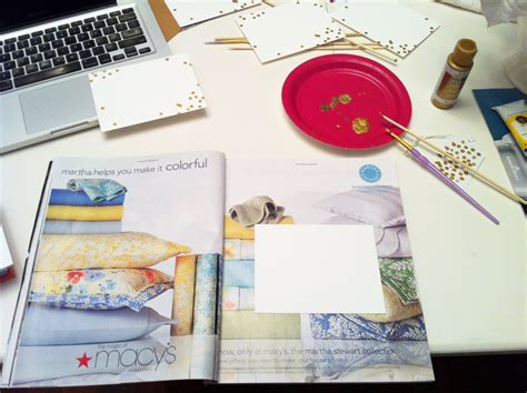 diy stationery diy gold dot stationery em for marvelous
