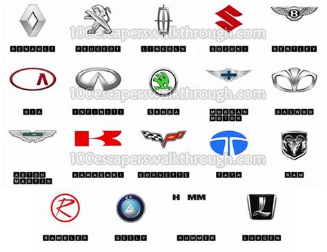 logo quiz cars level  answers  game answers   escapers walkthrough solution