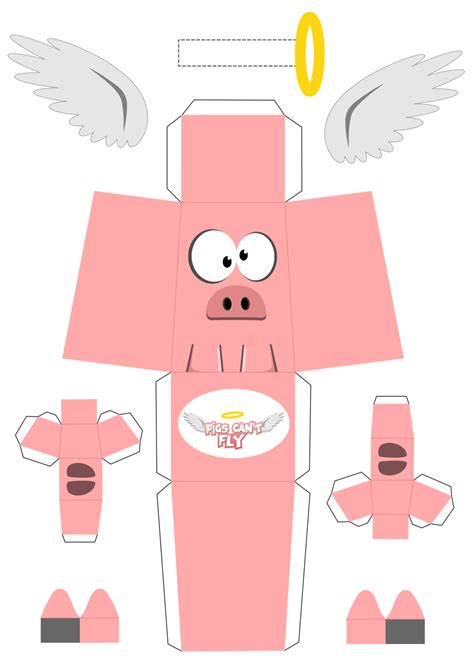 Pig Papercraft - pig can t fly paper craft by chillsters on deviantart