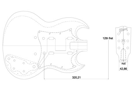 gibson les paul headstock template gibson sg custom guitar templates electric herald