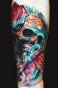colorful skull by remis inkedmagazine skull