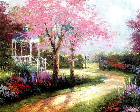 painting garden flowers wallpapers hd wallpaper of flower
