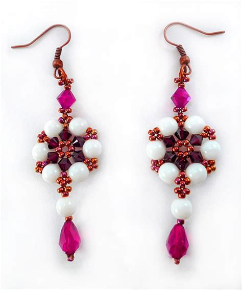 free patterns for beaded earrings free pattern for beaded earrings magic