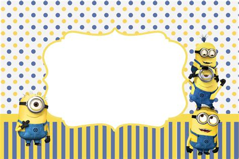 minion card template inspired in minions invitations free printables is it for is it free is it