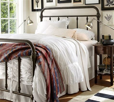 pottery barn iron bed coleman bed pottery barn