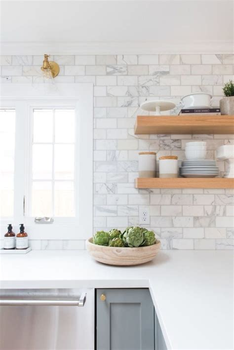 best white tile backsplash ideas on white subway marble