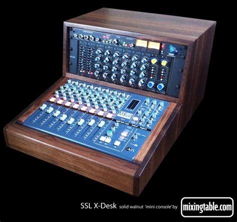 mini console for the ssl x desk mixingtable com