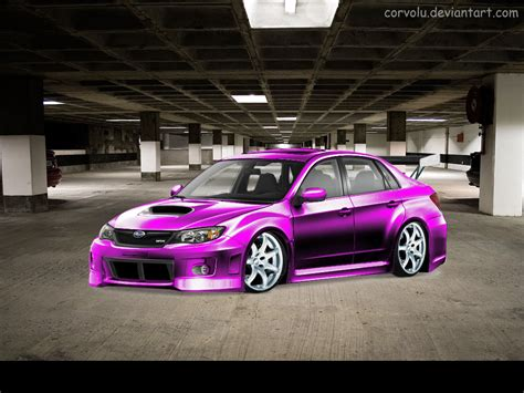 purple subaru subaru impreza sti purple by corvolu on deviantart