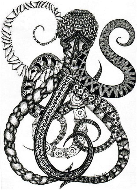 pattern drawing octopus octopus by jessica swanson