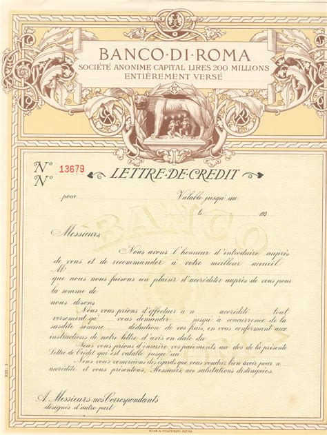 Renaissance Letter Of Credit Circular Letter Of Credit Pictures
