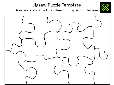 Nonverbal Activities August September October November December Ppt Download Jigsaw Puzzle Template Generator