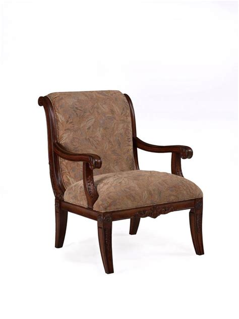 leaf pattern accent chair powell alexandria scroll back accent chair with leaf